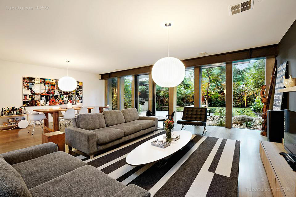 美式装修风格客厅效果图片