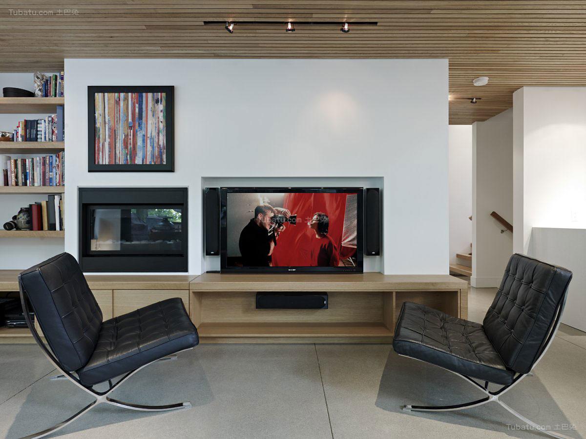 简欧装修风格电视背景墙效果图片