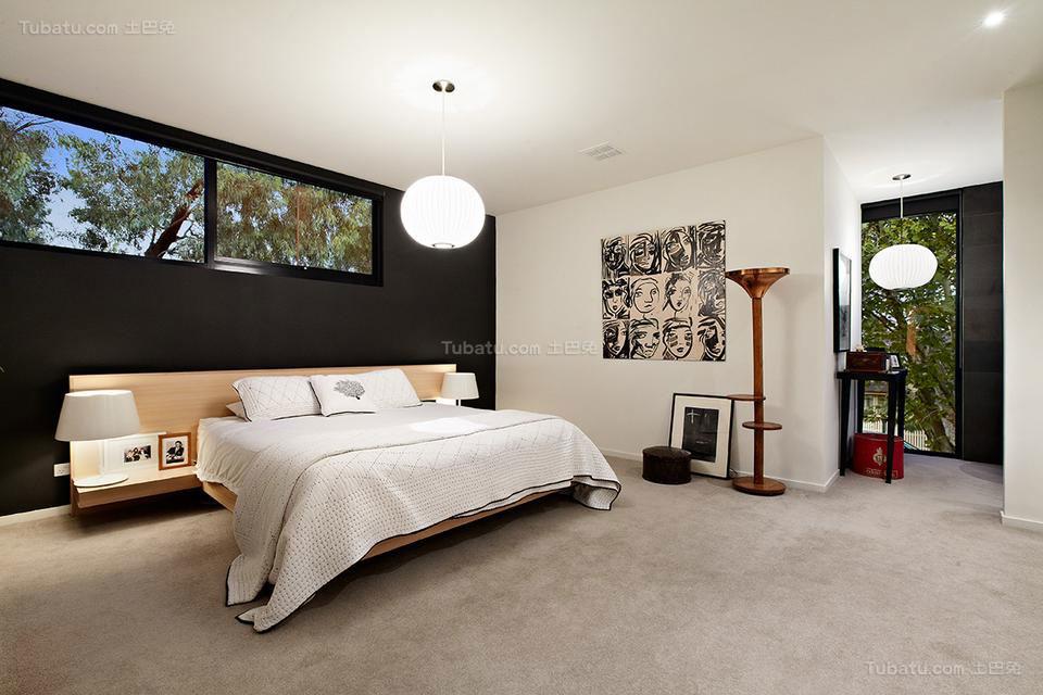 美式装修风格卧室效果图片