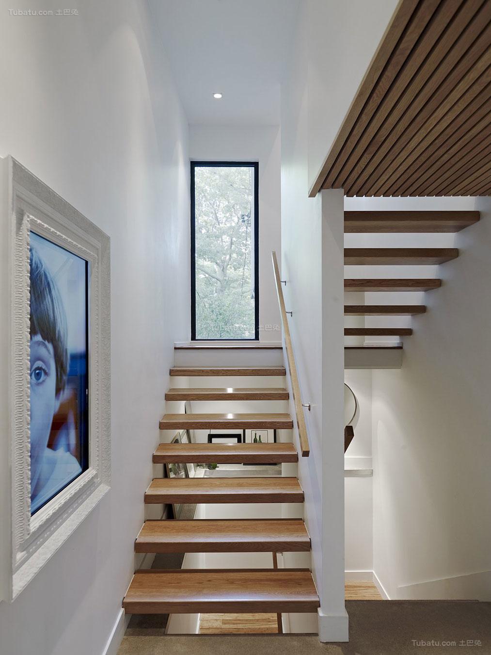 简欧装修风格楼梯装修效果图片