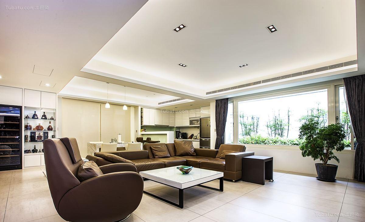 现代三居室品质装修效果图