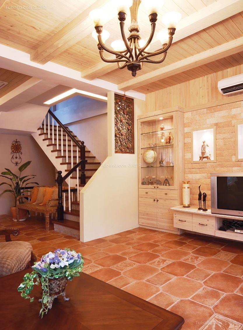 田园温馨家装楼梯设计图