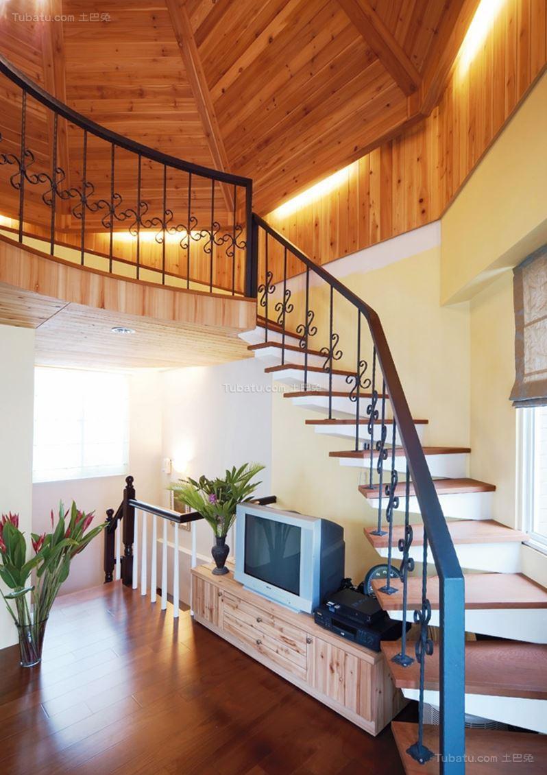 田园温馨家居楼梯设计图片
