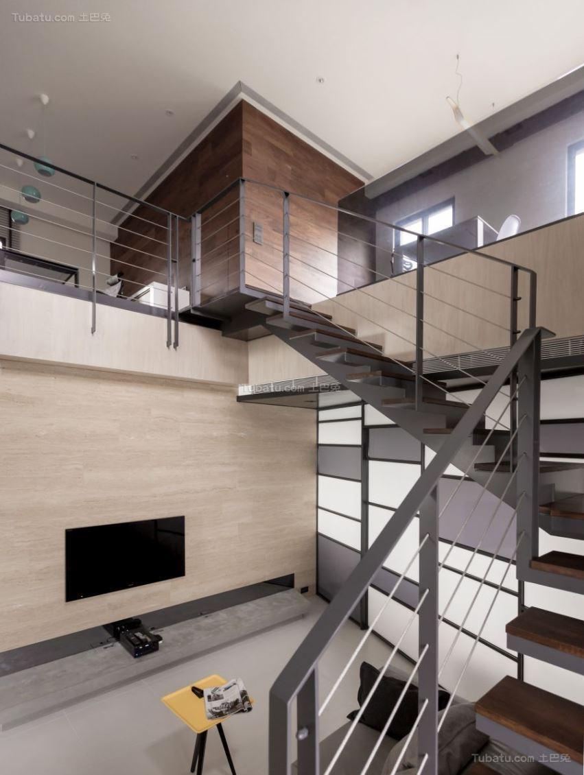 复式楼梯设计装修图片