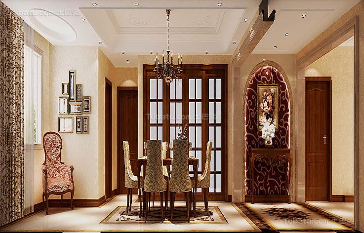 别墅豪华装修餐厅设计