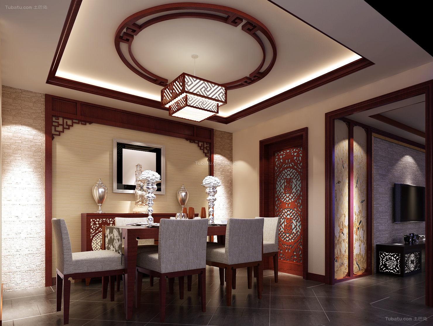 中式典雅格调餐厅装修