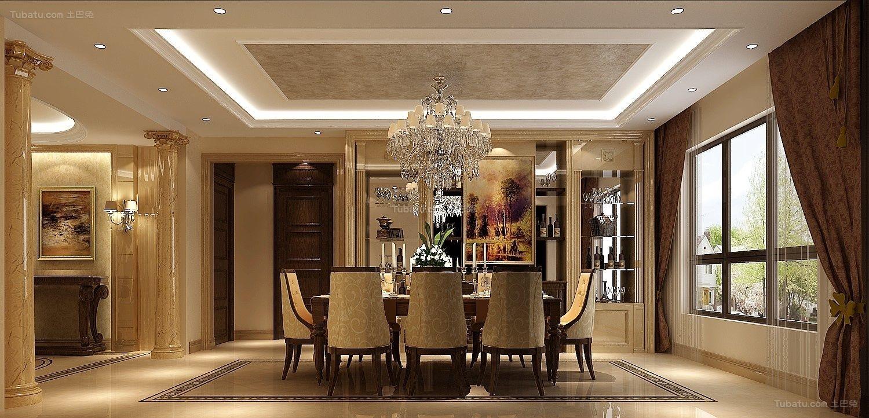 欧式豪华精美餐厅设计装修图片
