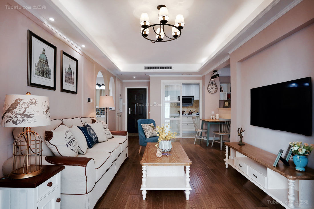 美式精致优雅客厅装修效果图展示