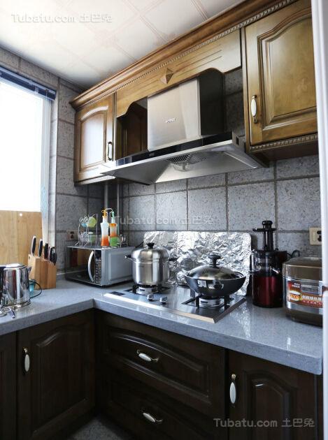 美式清新系列厨房装修效果图
