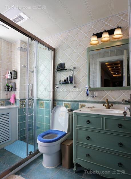 美式清新系列卫生间装修效果图