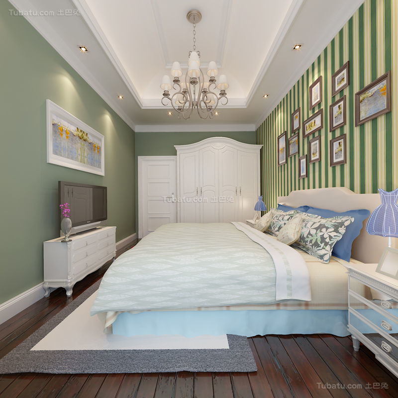 欧式精致温馨卧室装修效果图