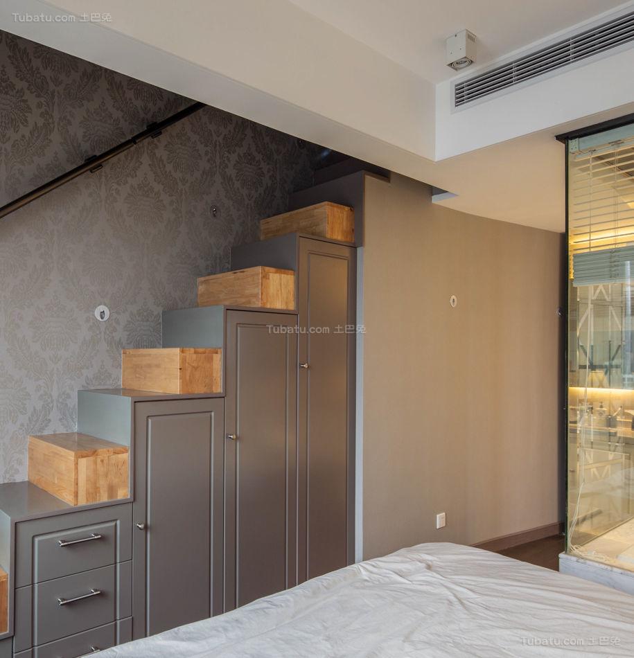 创意卧室楼梯装修效果图
