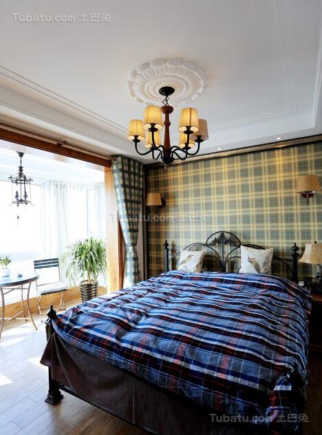 美式清新雅致卧室装修效果图