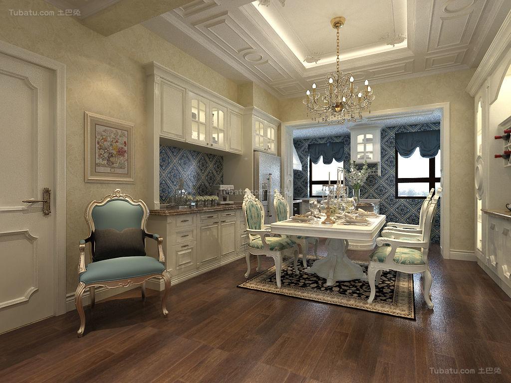 欧式奢华精致四居室装修效果图