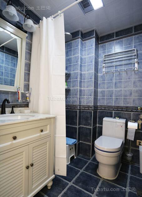 美式雅致系列卫生间装修效果图
