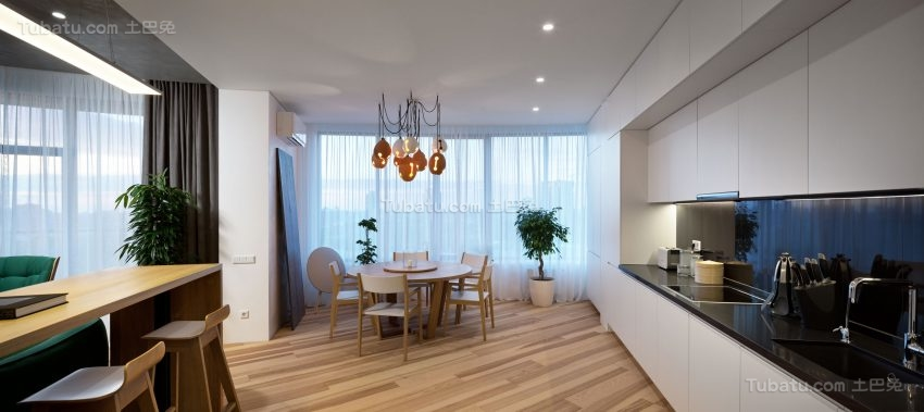 极简主义风格公寓装修效果图