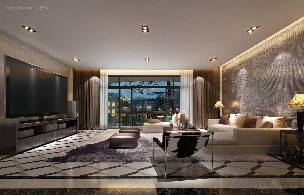新古典高雅气质小客厅装修图