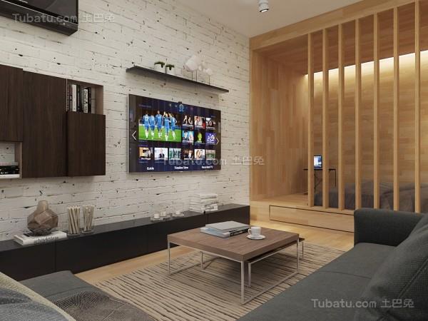 休闲格调客厅电视背景墙装修效果图