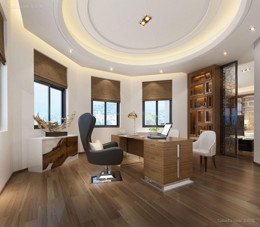 新古典高雅气质书房装修图