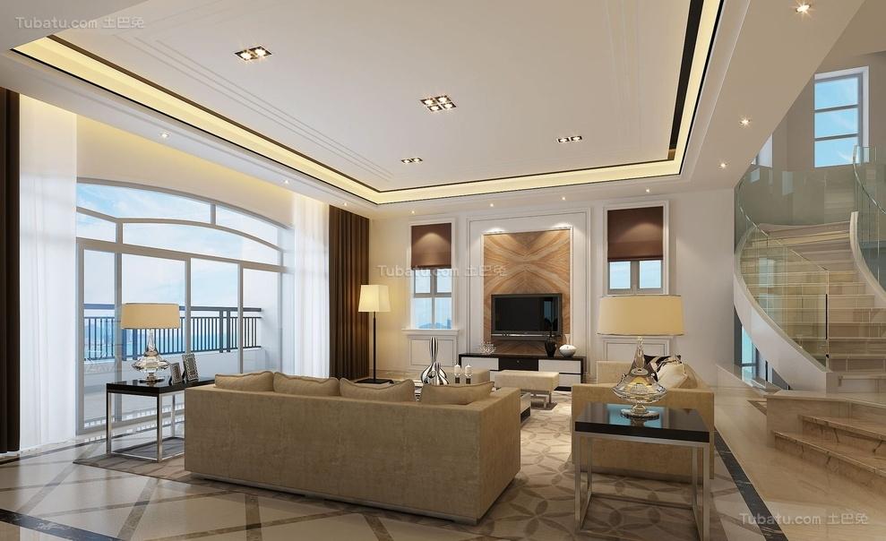 新古典高雅气质客厅装修图