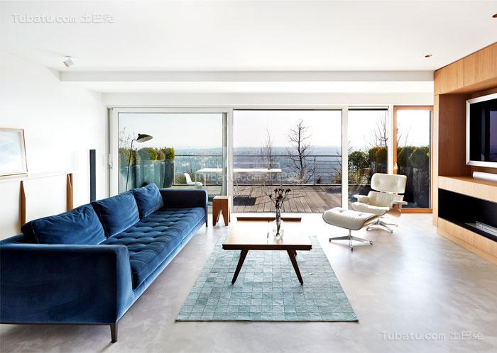 典雅舒适系列客厅装修效果图