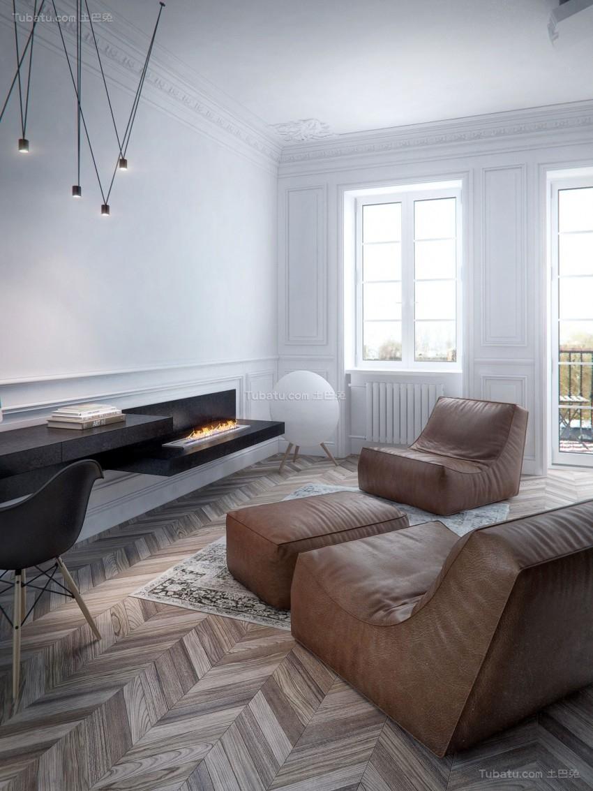 现代舒适系列客厅装修效果图