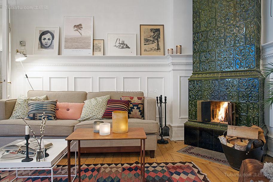 美式清新舒适一居室装修效果图