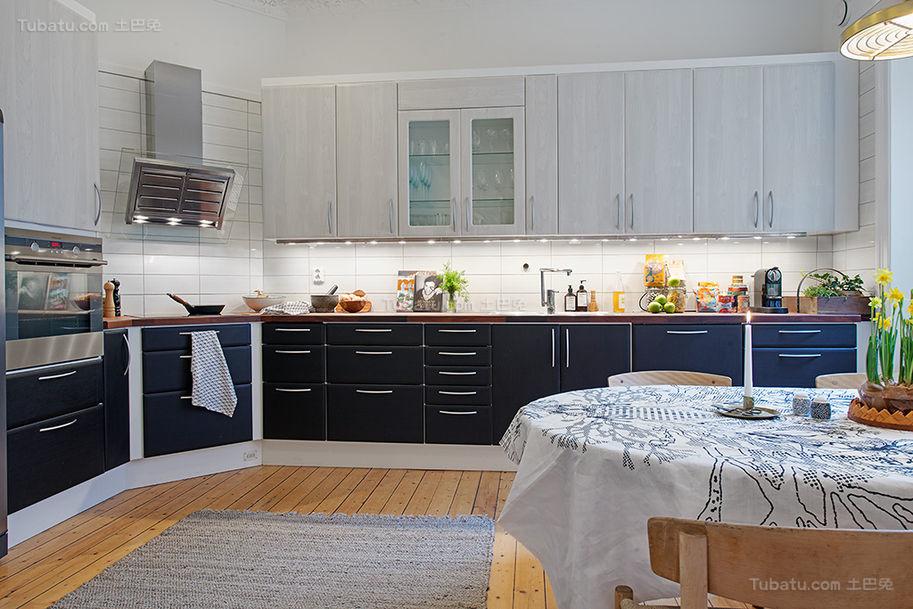 美式清新舒适系列厨房装修效果图