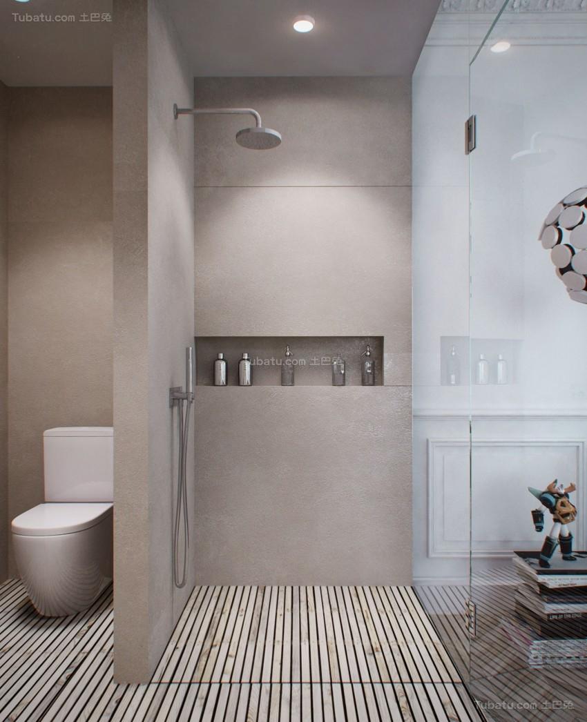 现代舒适系列卫生间装修效果图