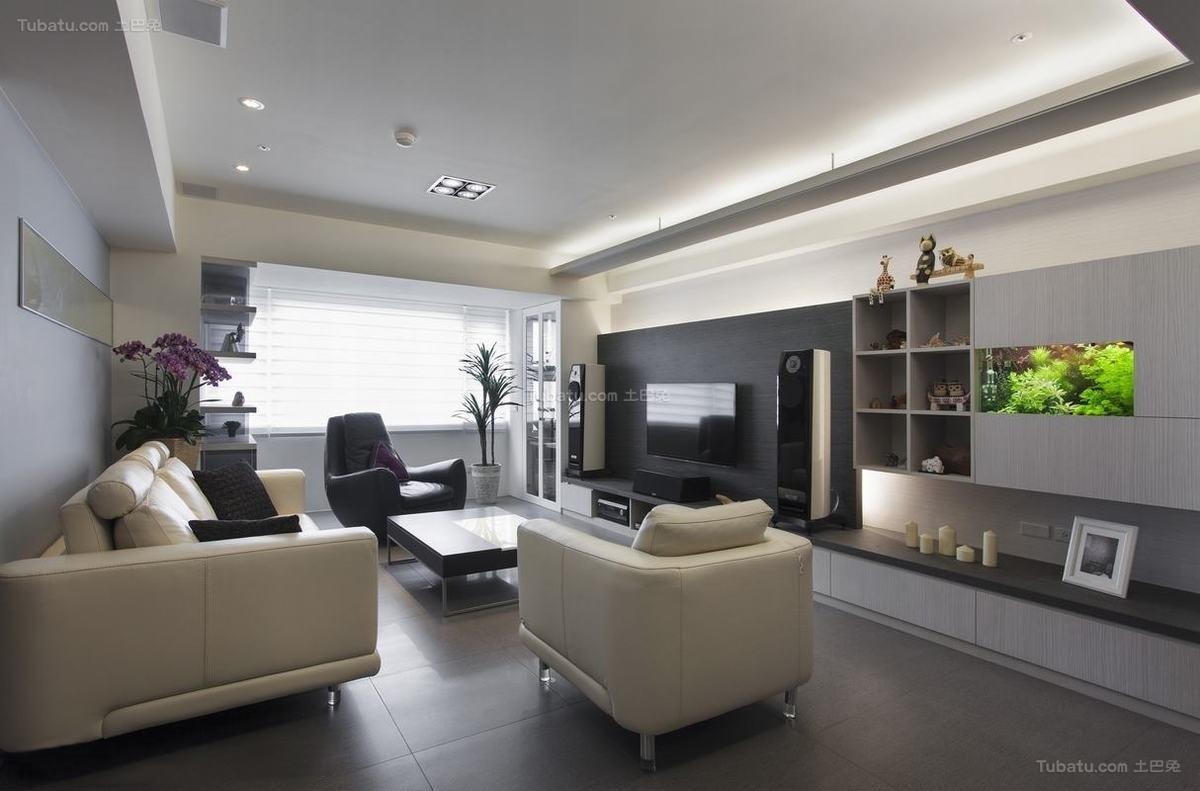 现代风雅致客厅装修图