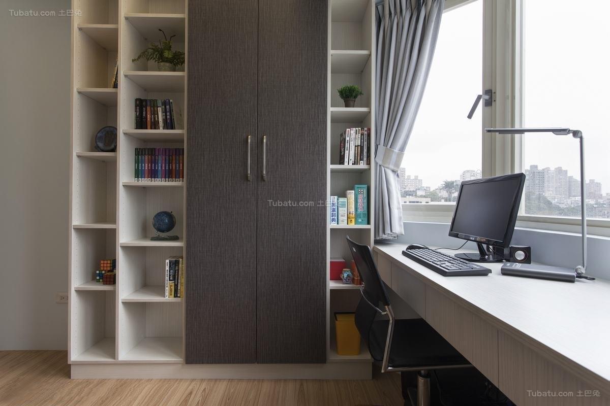 现代风雅致书房装修图