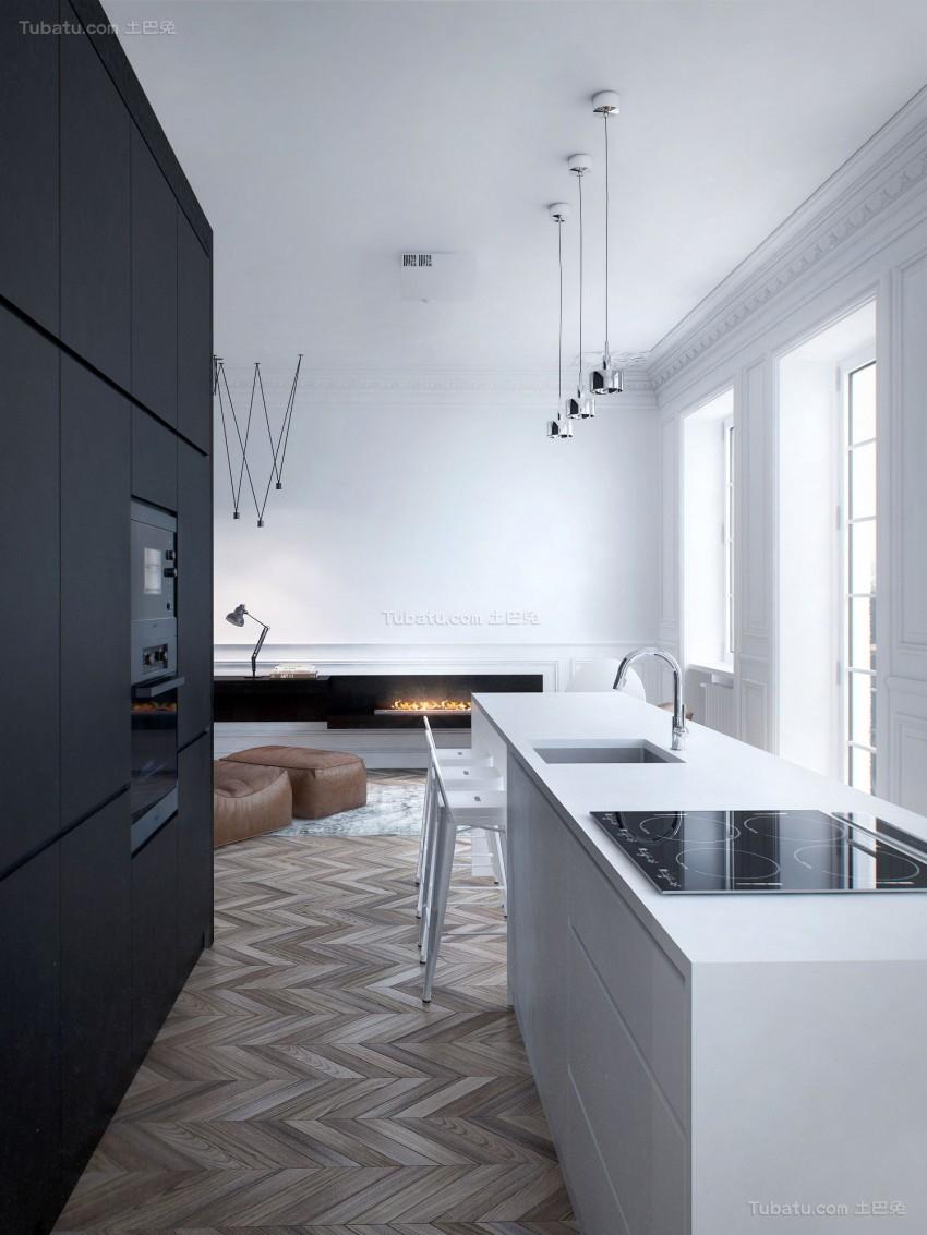 现代舒适系列公寓装修效果图