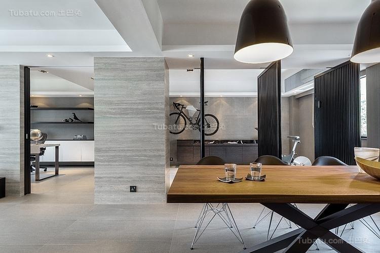 现代灰色时尚公寓装修效果图