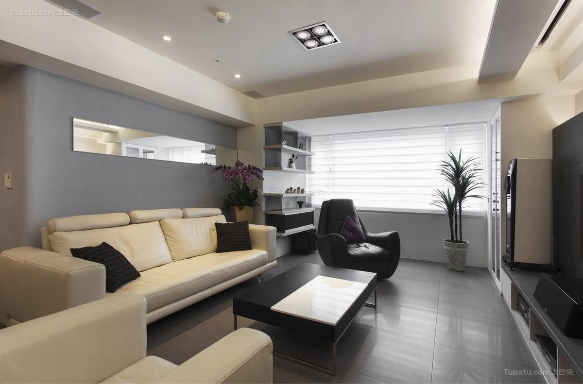 现代风雅致二居室装修图