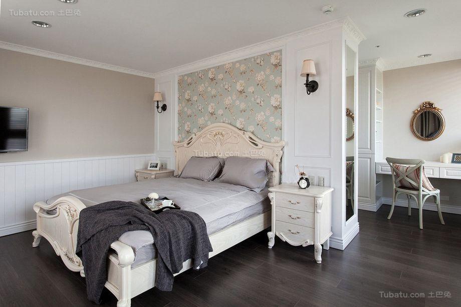 美式田园风格卧室设计装修效果图