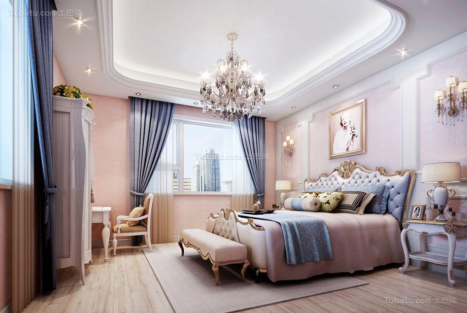 奢华简欧派卧室装修效果图