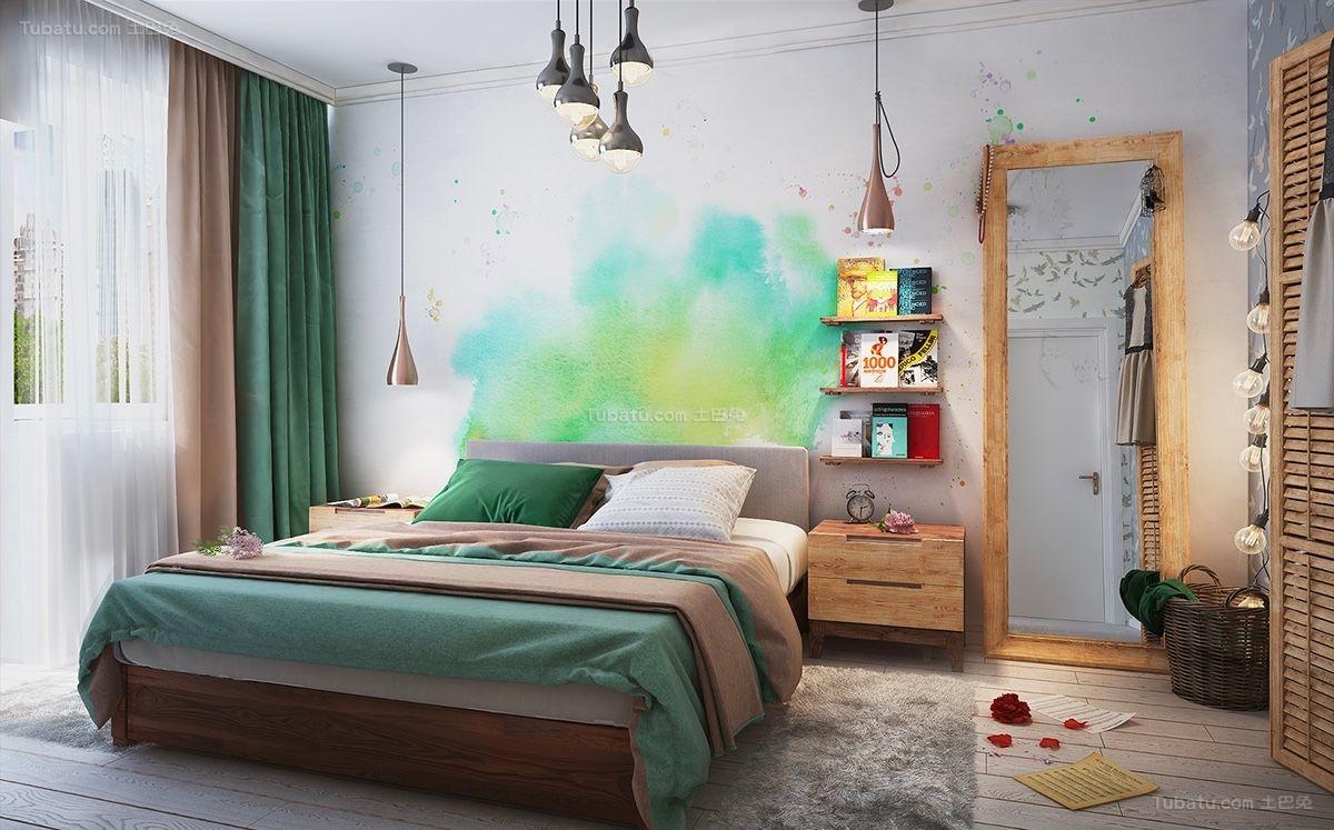 时尚色彩卧室装修效果图