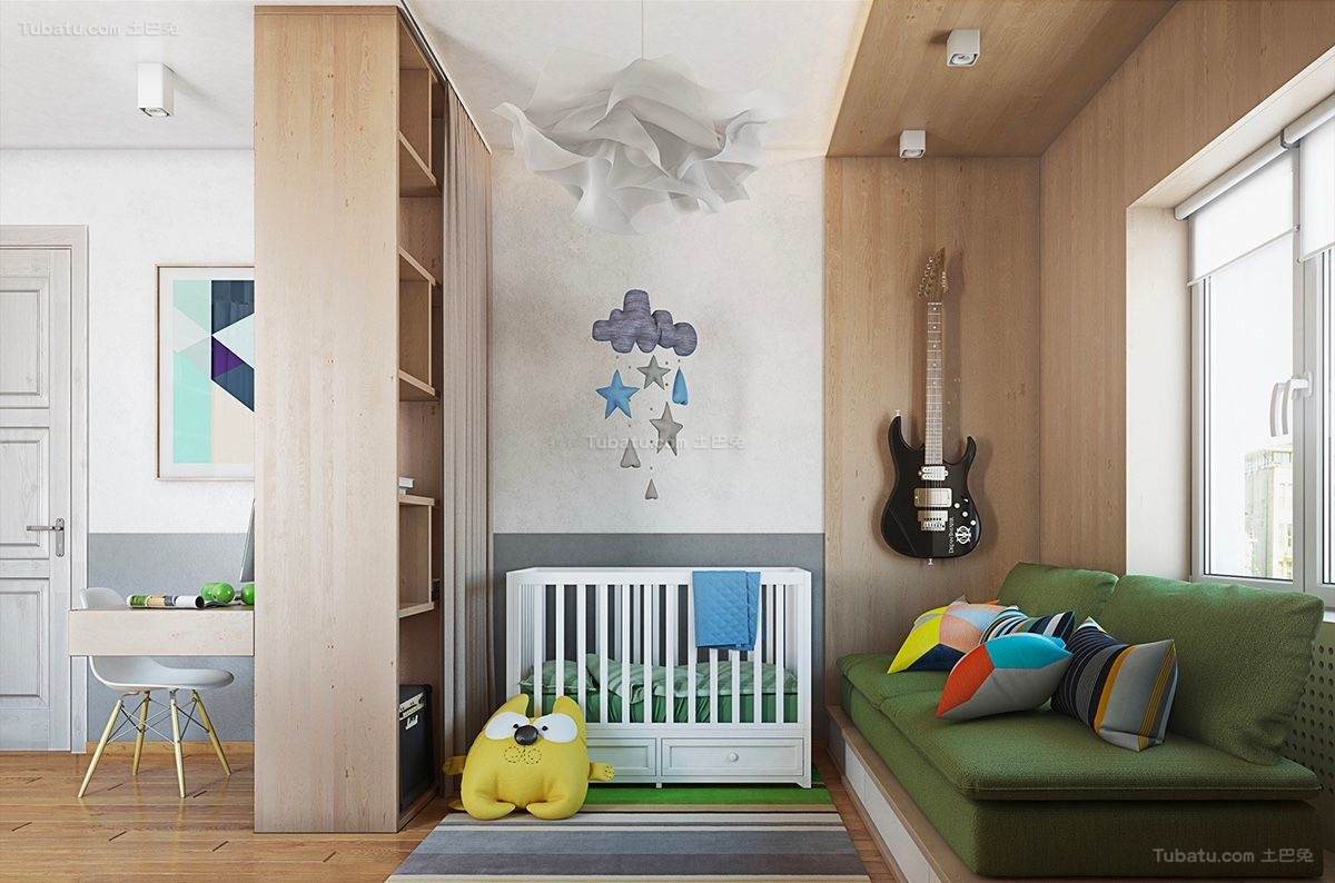 时尚色彩儿童房装修效果图