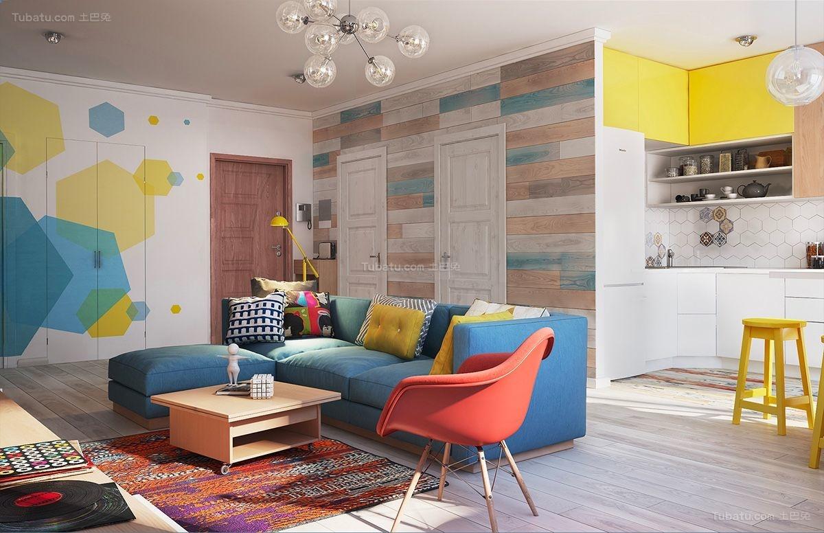 时尚色彩客厅装修效果图