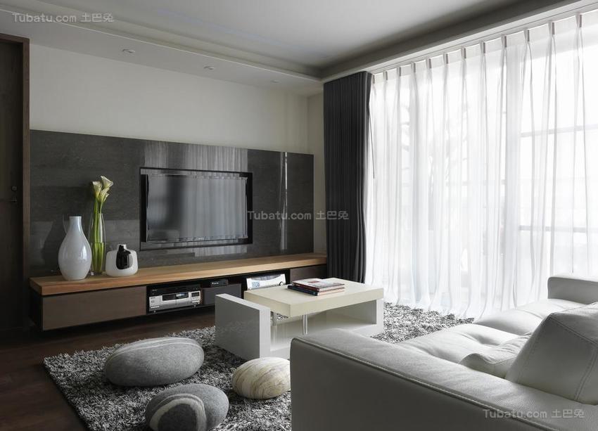 质朴简约风电视背景墙装修效果图