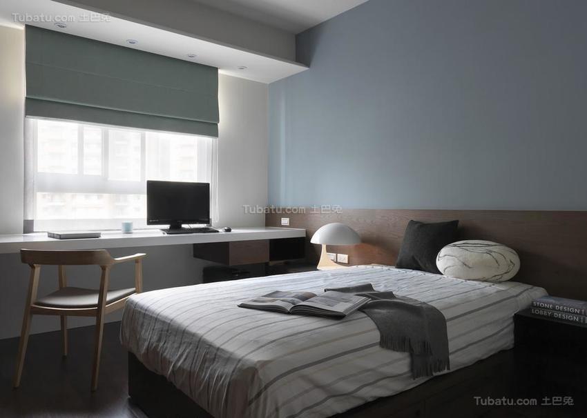 质朴简约风卧室装修效果图