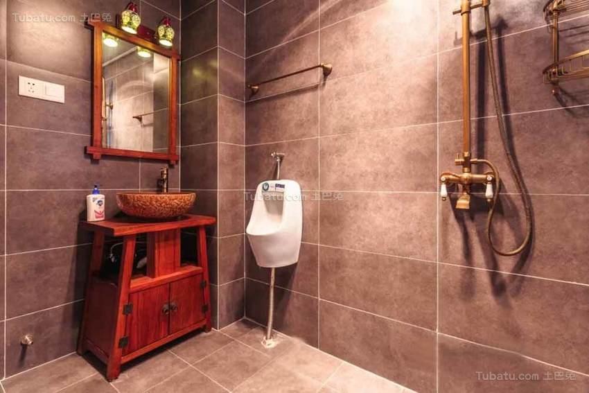 中式清新舒适卫生间装修效果图