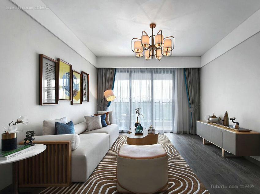 中西方相结合的客厅装修效果图