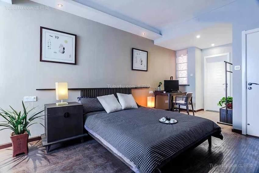 中式清新舒适卧室装修效果图
