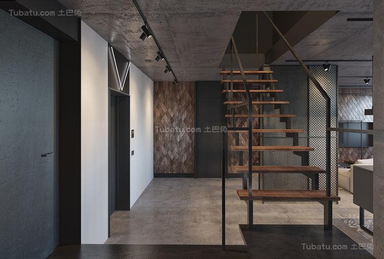 工业风摩登楼梯装修效果图