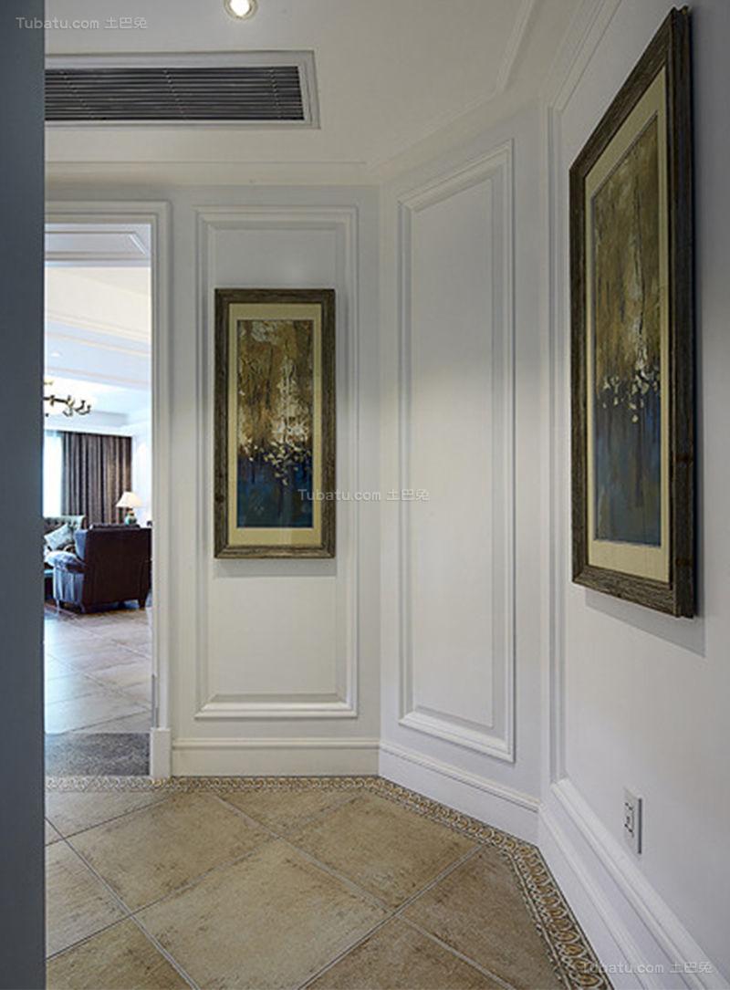 复古美式风格三居室装修效果图