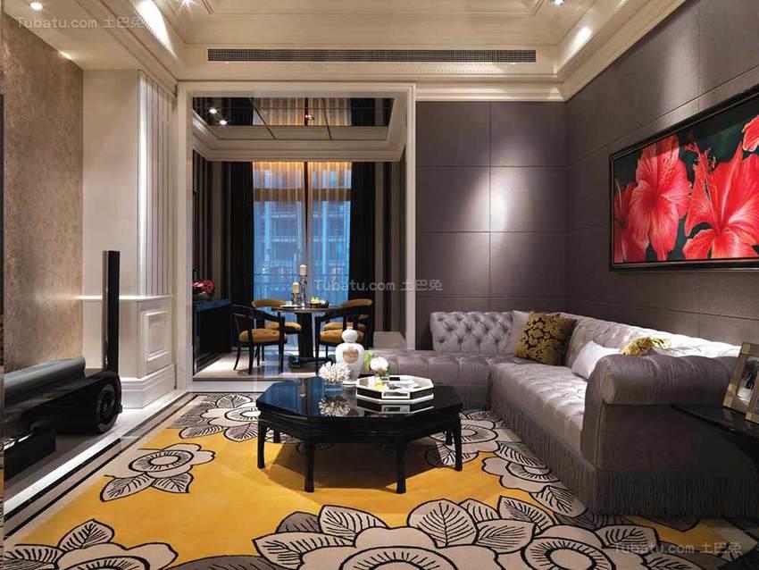 华丽精致欧式四居室装修效果图