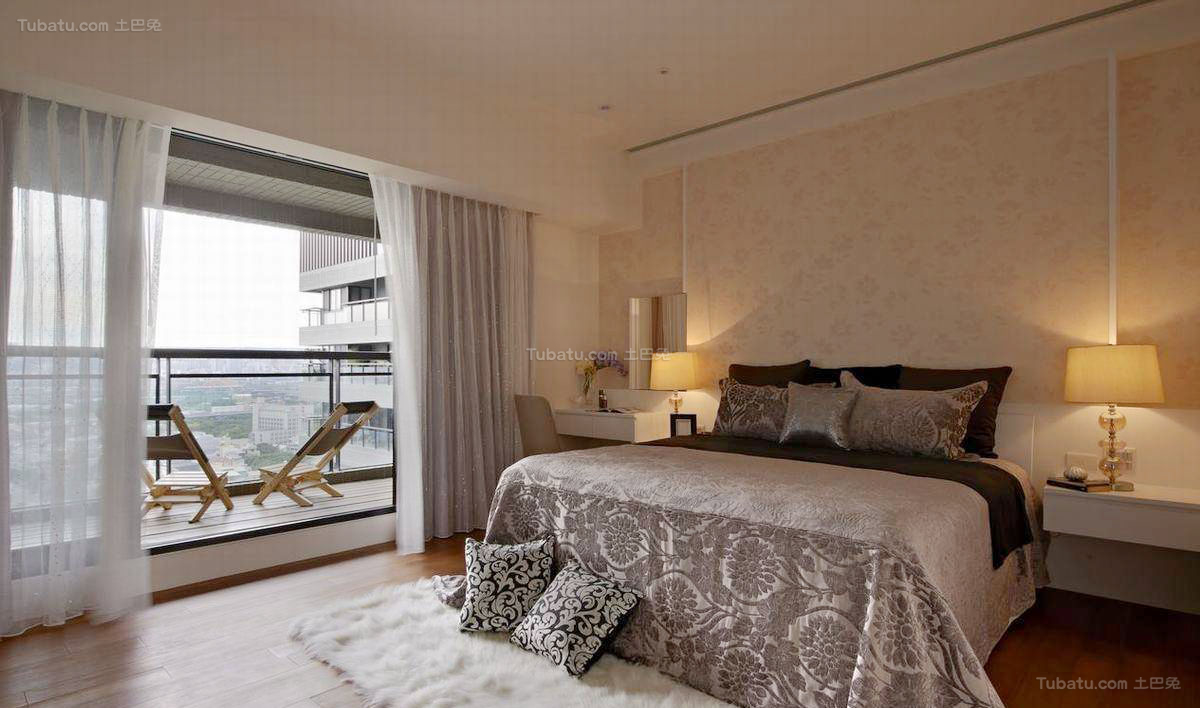 欧式精致感卧室效果图