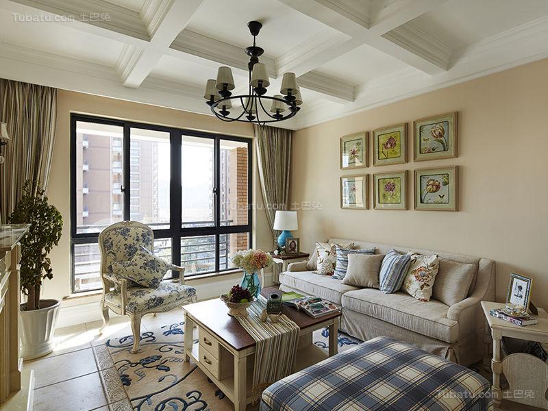 精致美式客厅装修效果图