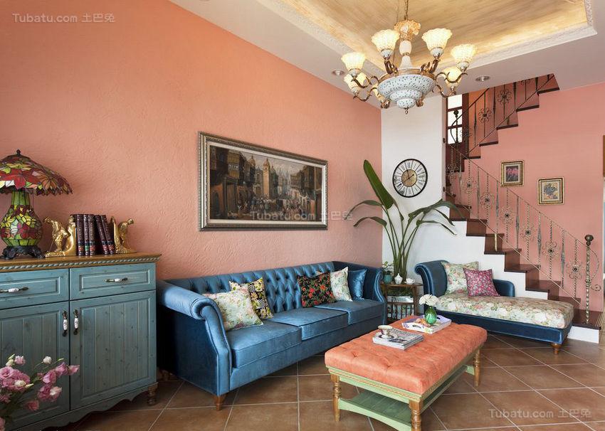 浪漫地中海风格客厅装修效果图